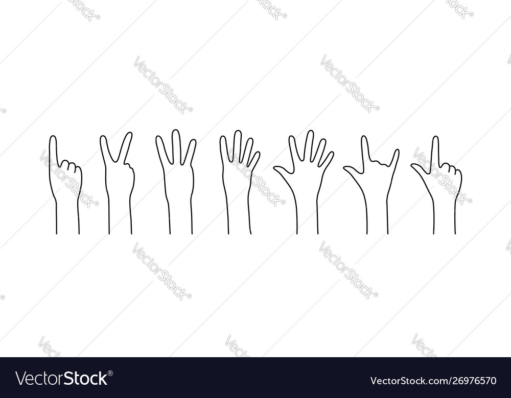 Contour counting hands like countdown