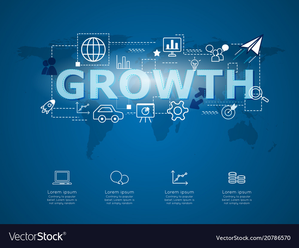 Creative infographic business growth