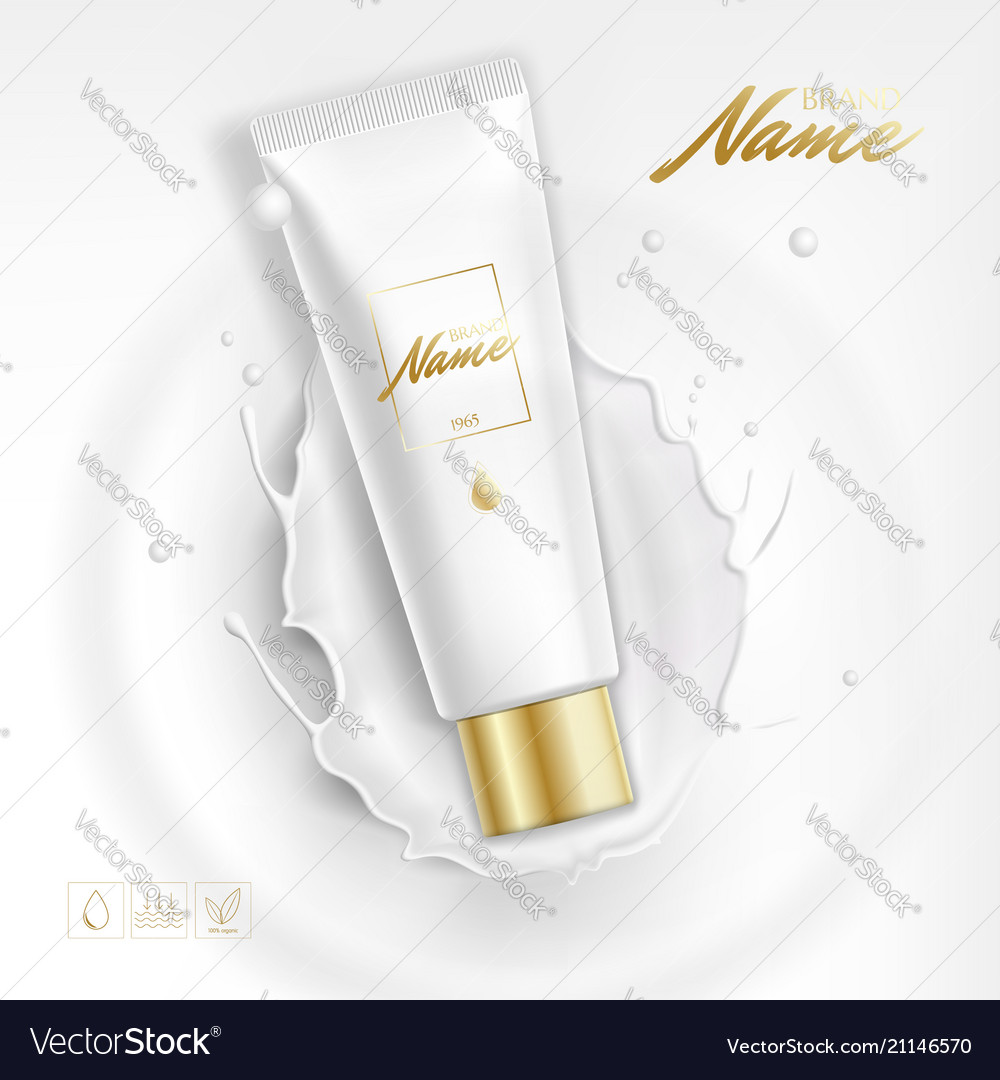 Design cosmetics product advertising for catalog