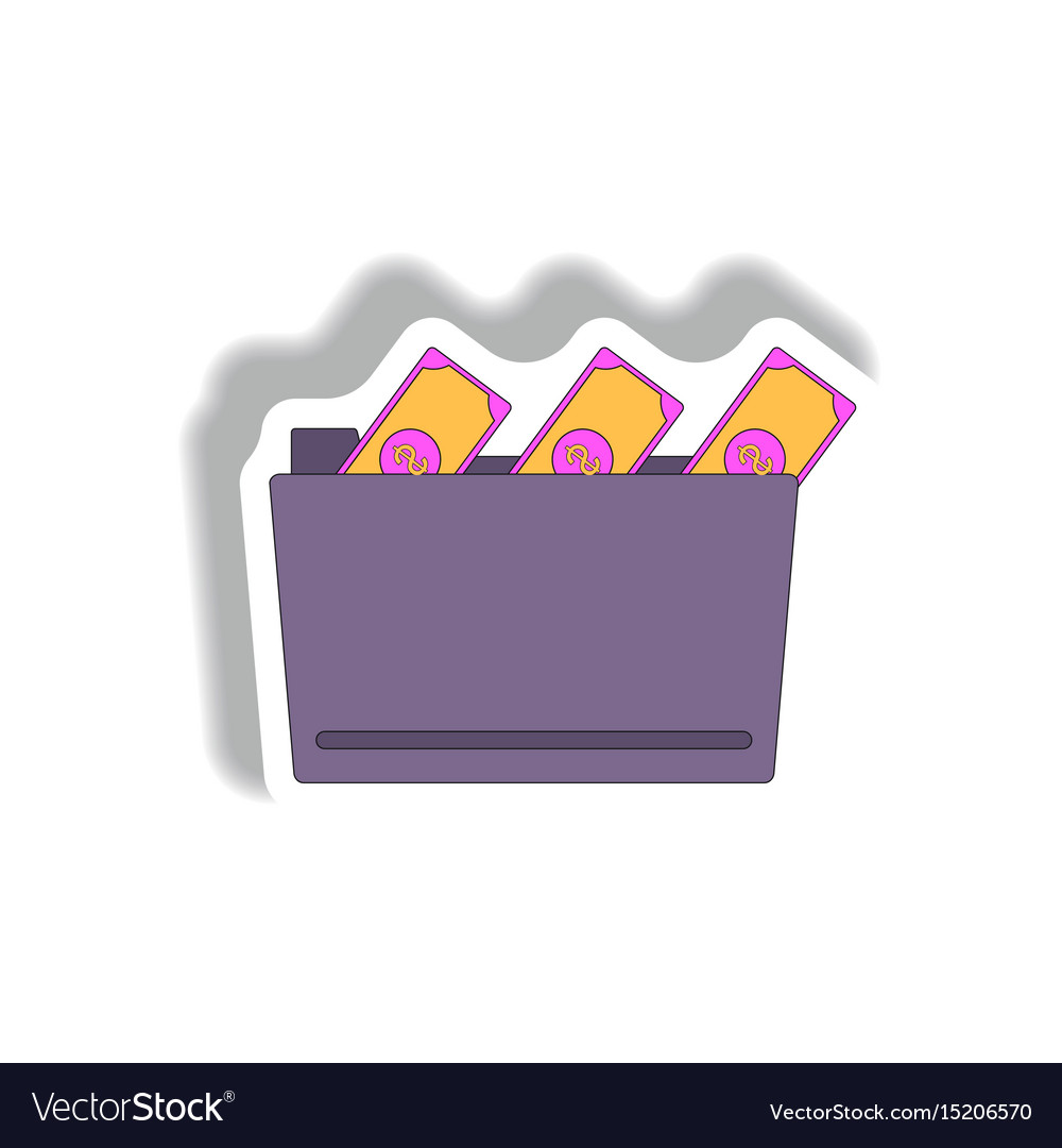 Folder and cash in paper