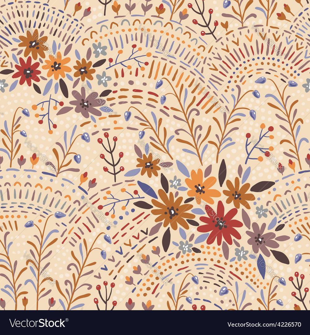 Pattern floral light vector image
