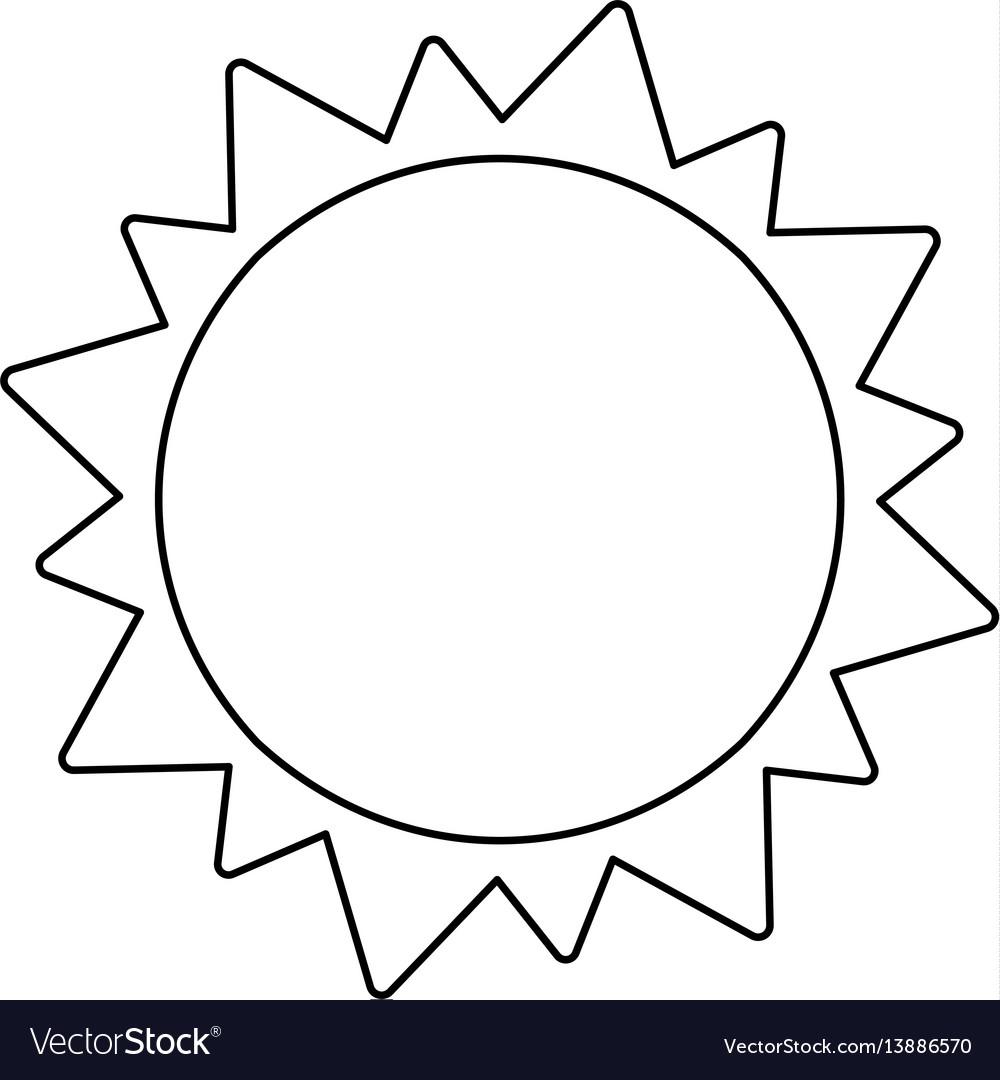 Sun solar system astronomy outline vector image
