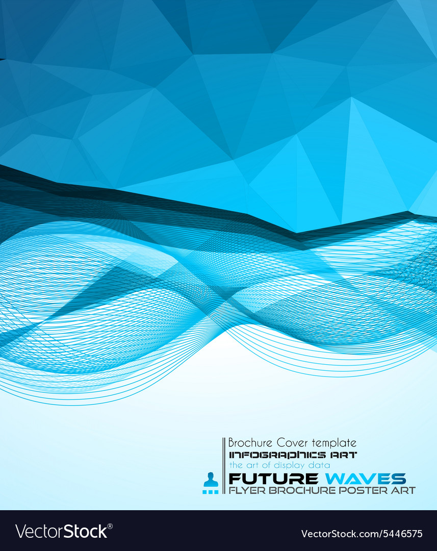 Abtract waves background for brochures and flyers