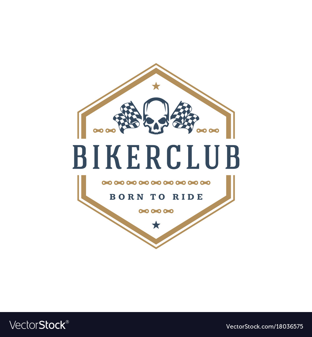 Biker club logo template design element