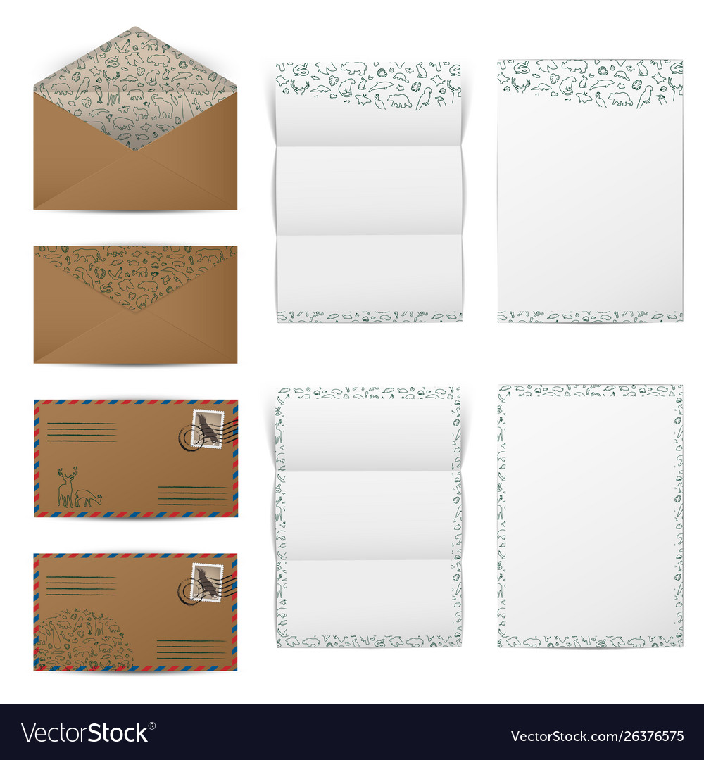 Brown paper envelopes and blank white letter paper