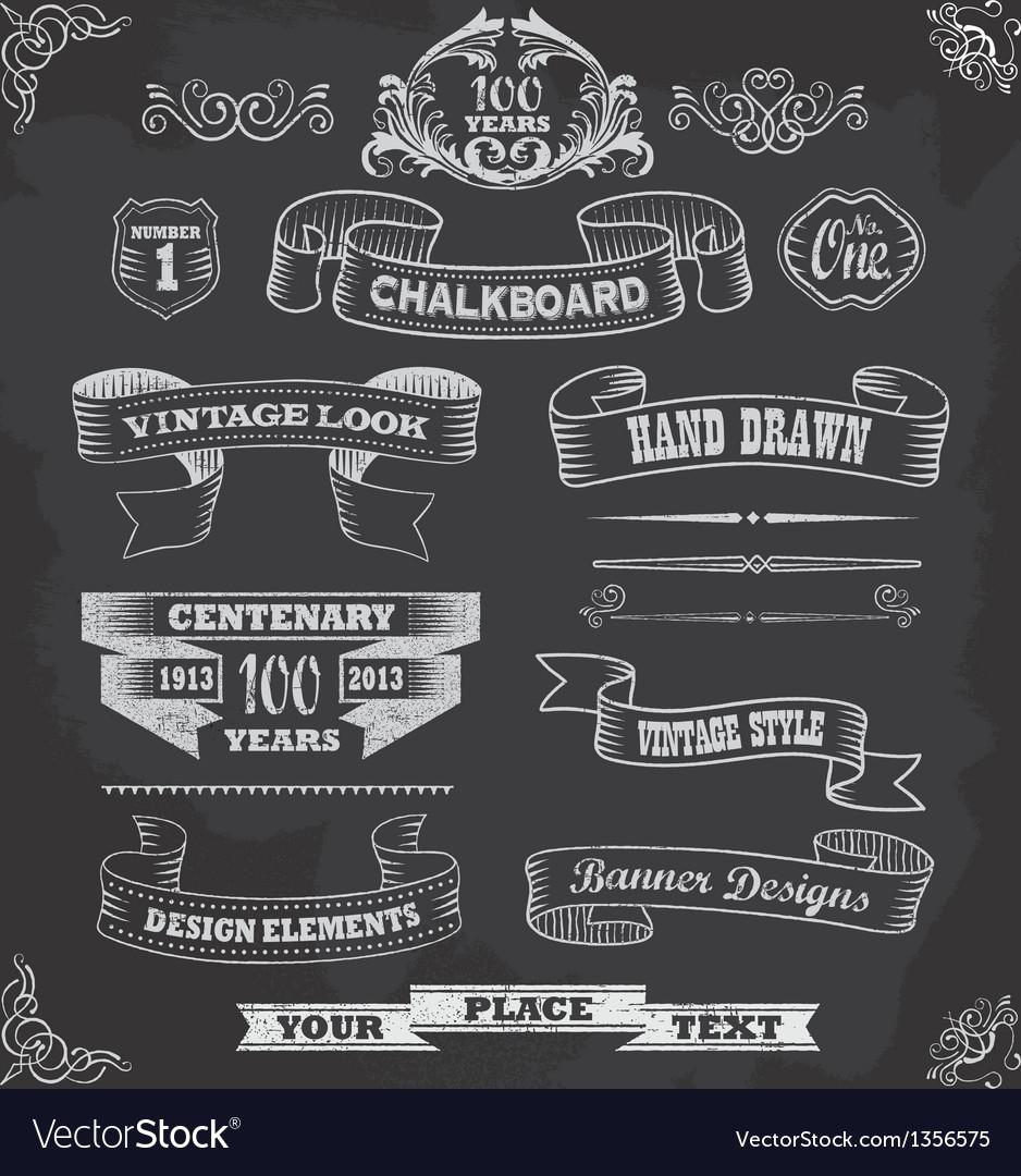 Chalkboard calligraphy banners