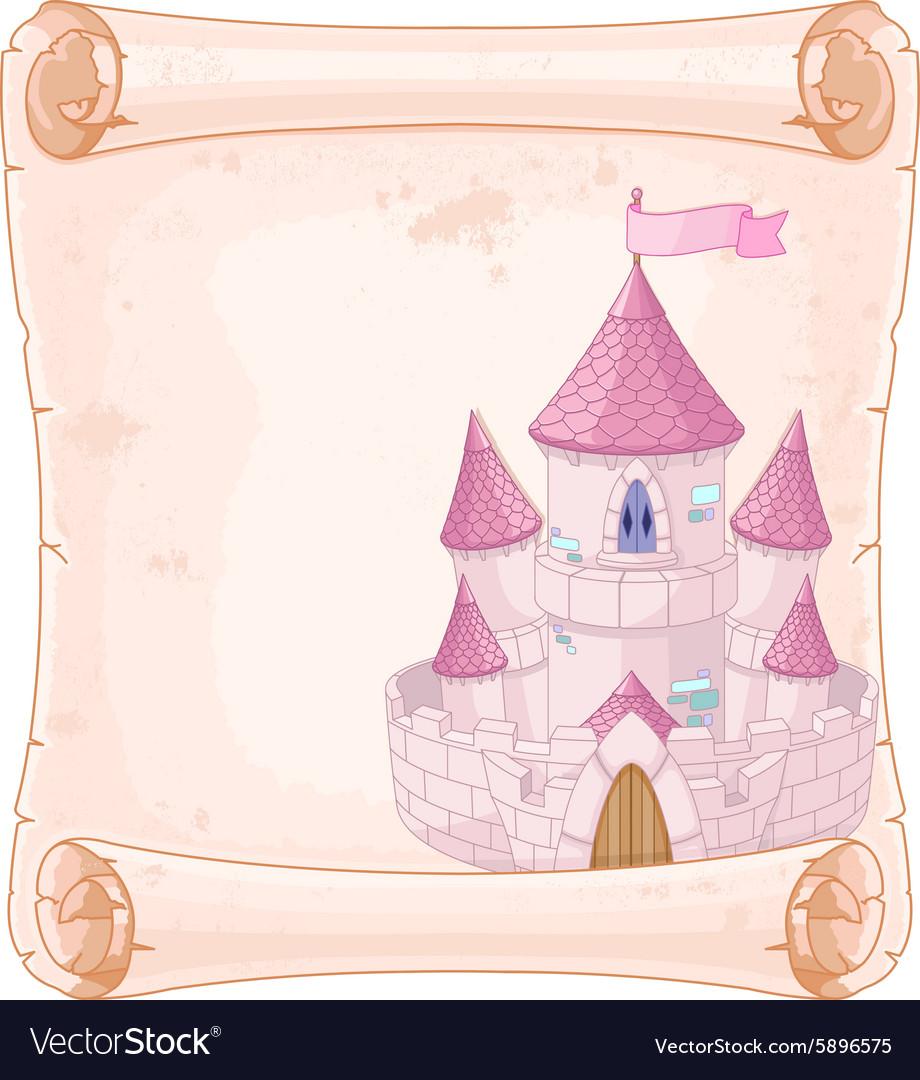 Fairy tale theme parchment vector image