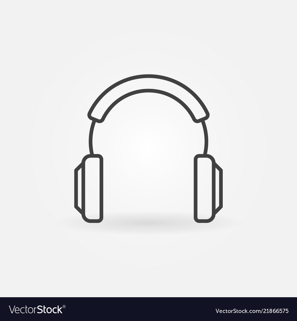 Headphones modern icon in thin line style