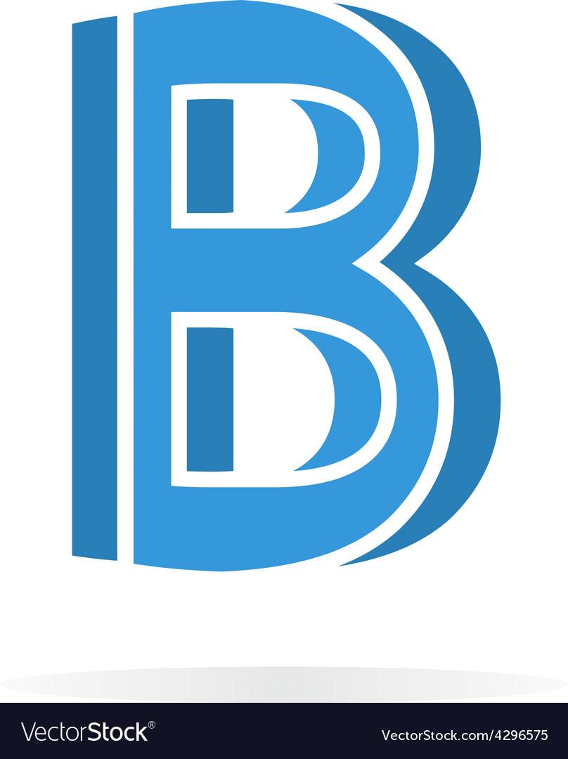 Logo b letter for company design template