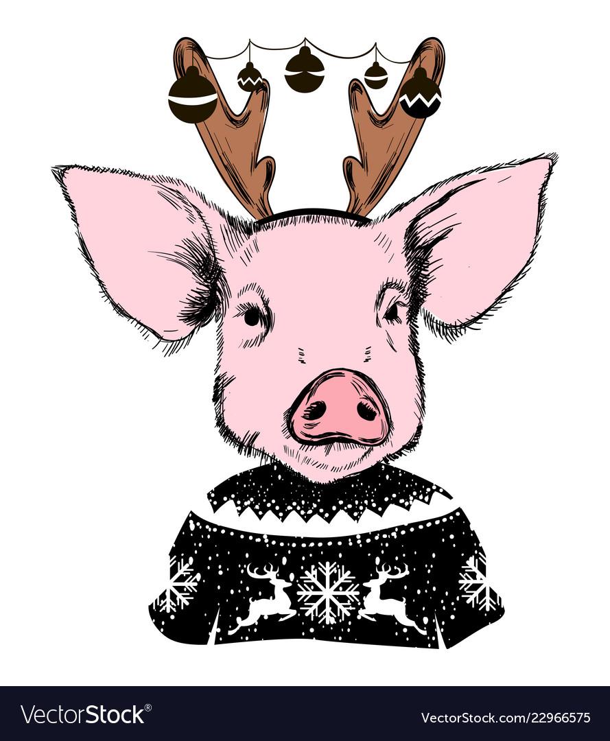свои картинки свинья с рогами просьбы