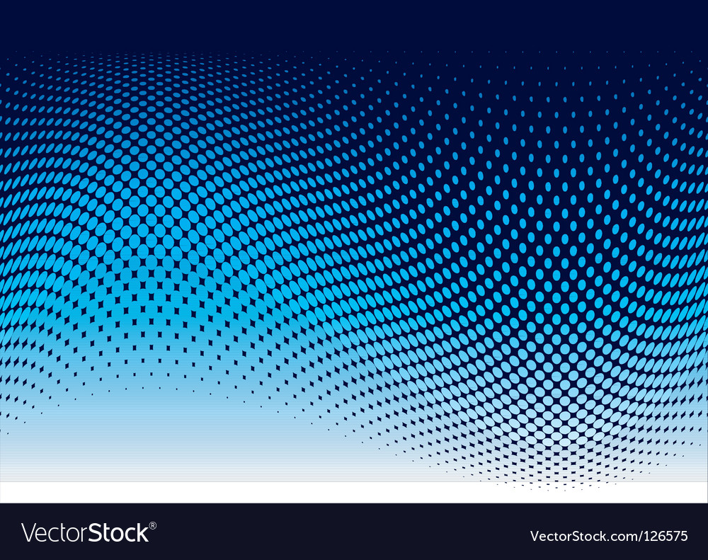Ocean halftone wave