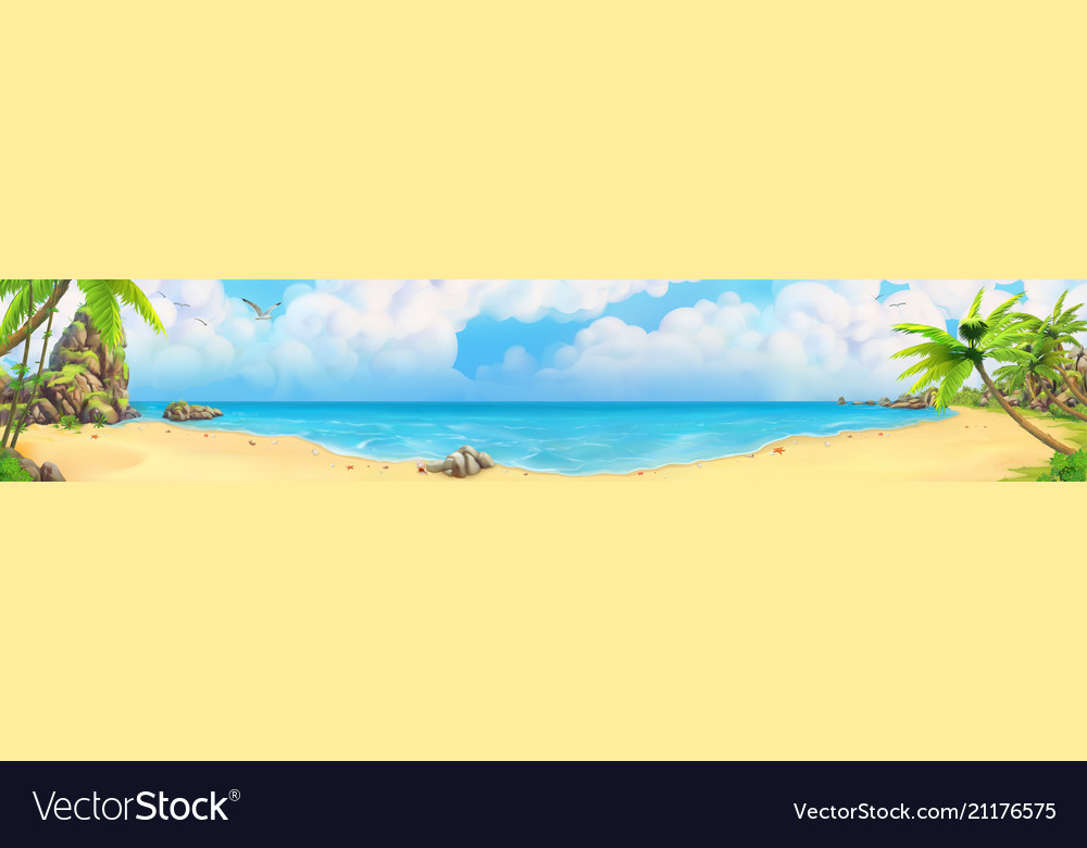 Sea panorama bay tropical beach background