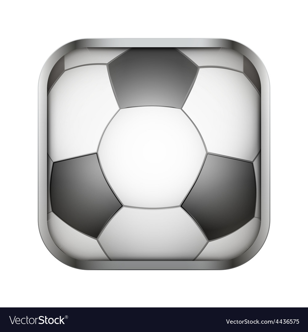 Square icon for football app or games