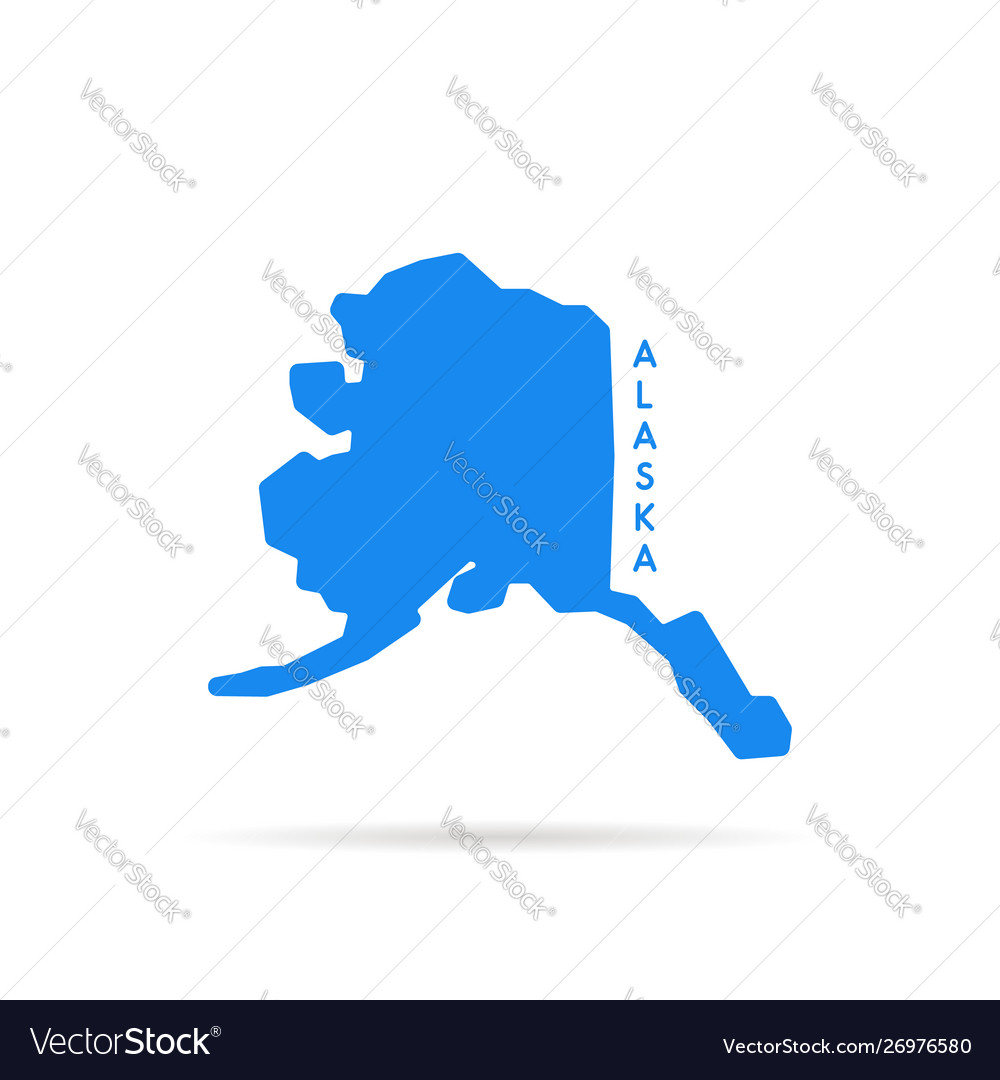 Blue simple alaska map logo