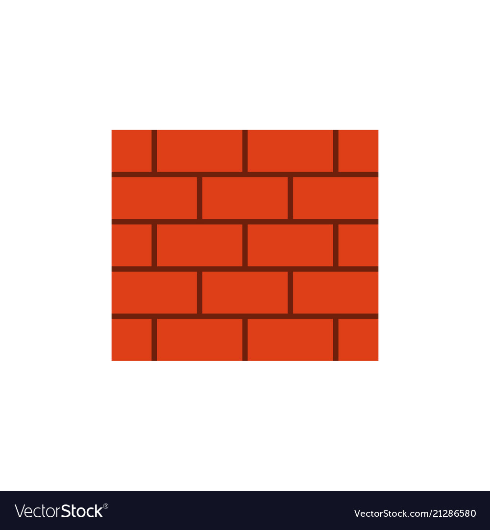 Brick wall flat icon