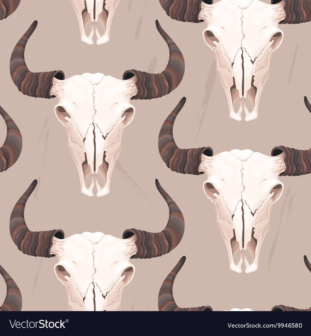 Buffalo skull seamless