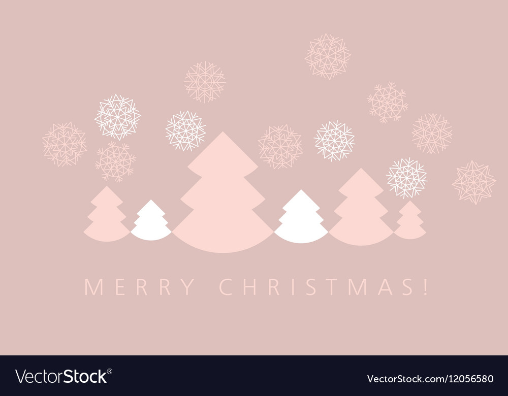 Elegant pale color christmas background xmas vector image