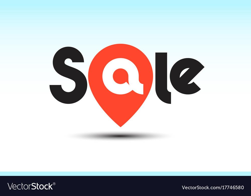 Sale pin logo