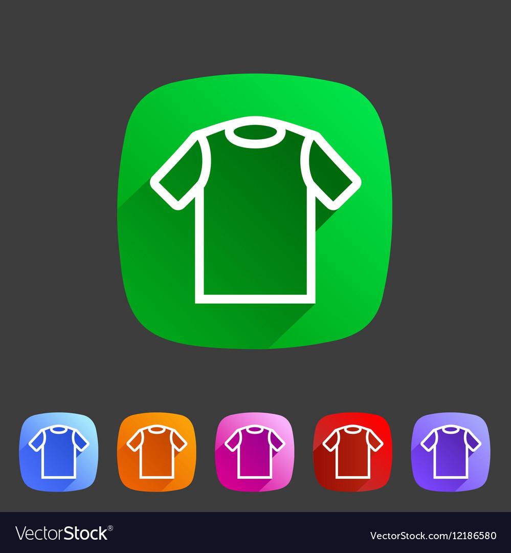 Tshirt t-shirt tee icon flat web sign symbol logo