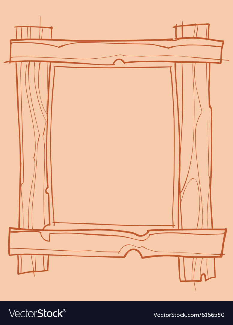 Wooden frame outline drawing