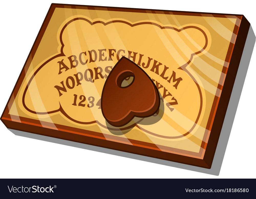 Wooden Ouija Board With English Letters Vector Image