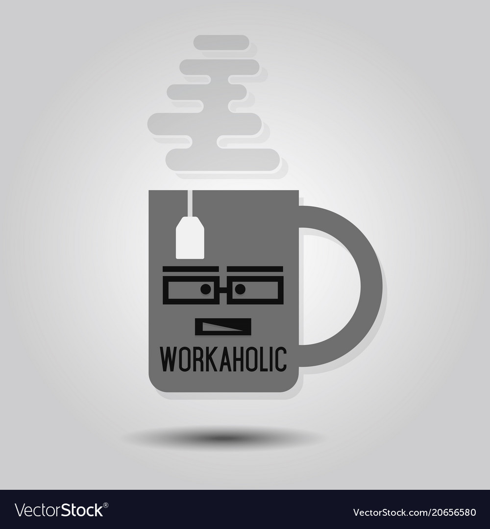 Workaholic mug - abstract single mug icon