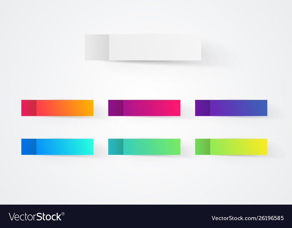 Colorful post note stickers