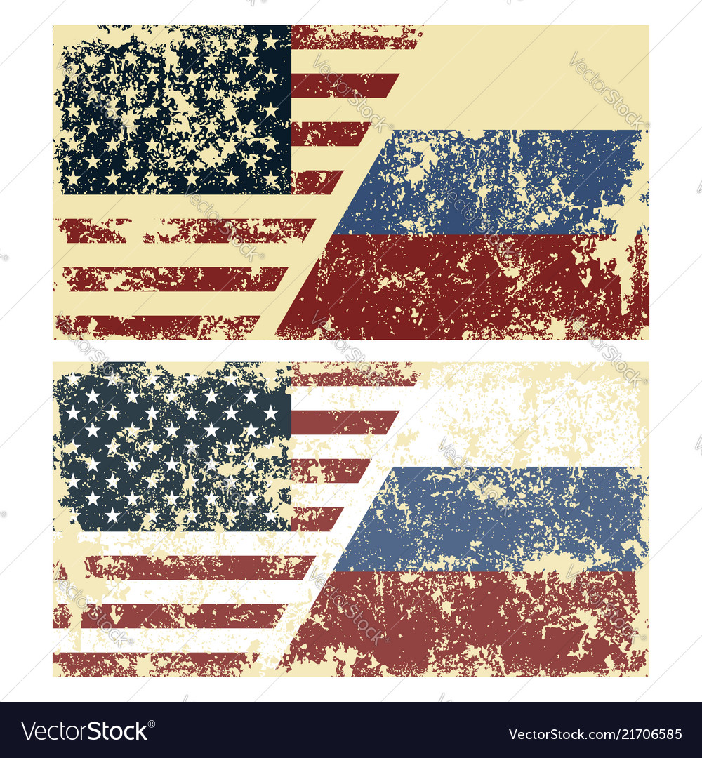 Old scratched flags of usa