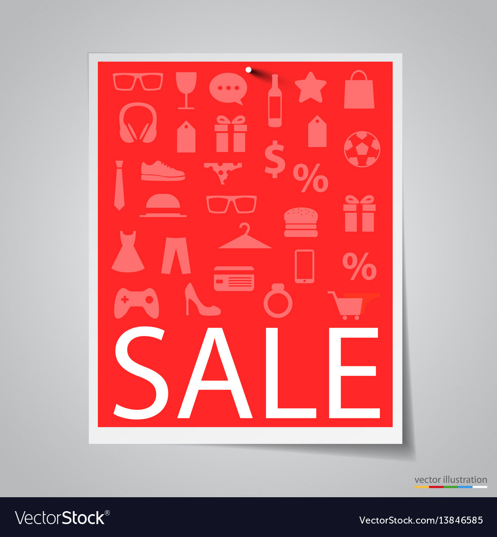 Paper sale banner on gray background