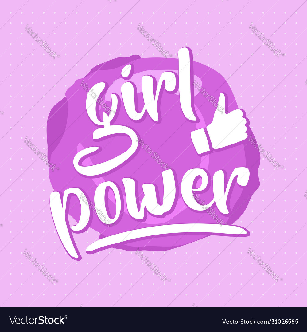 Pink girl power poster