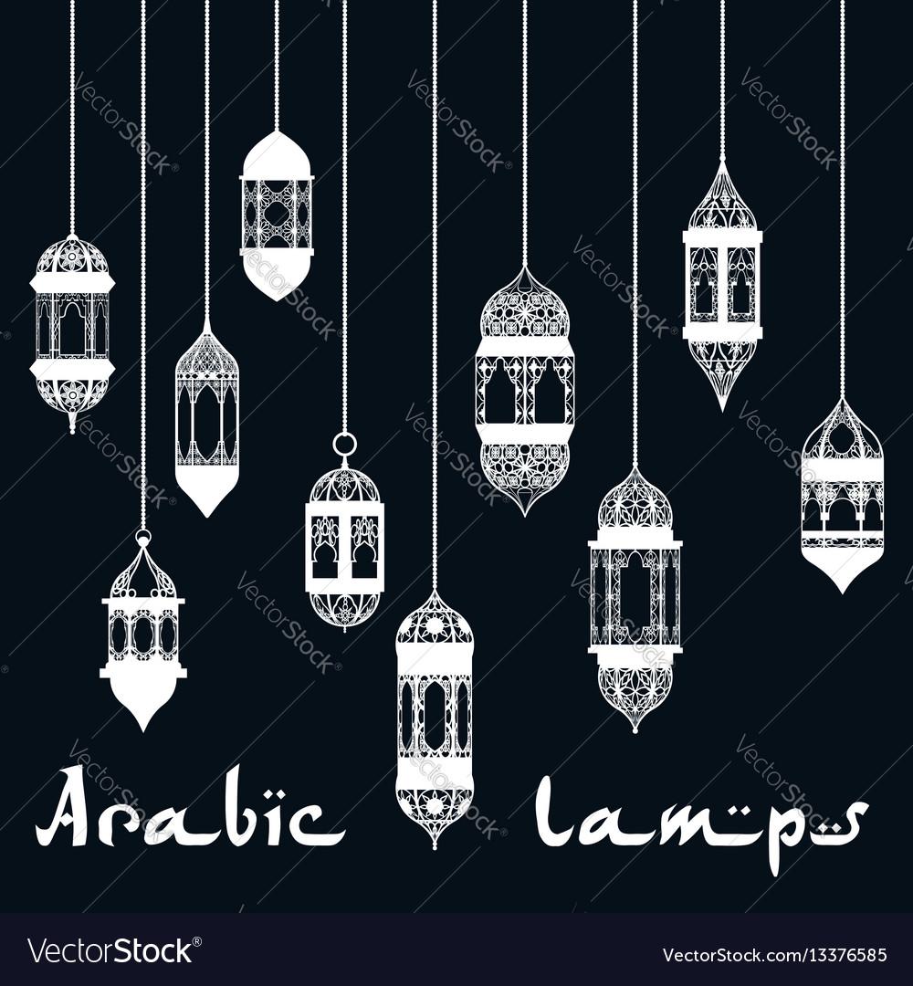 Ramadan kareem arabic lantern design template