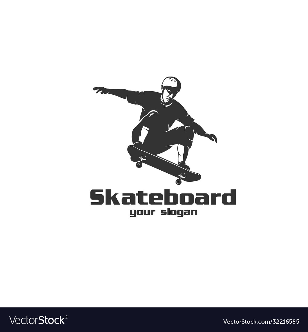 Skateboard logo vector