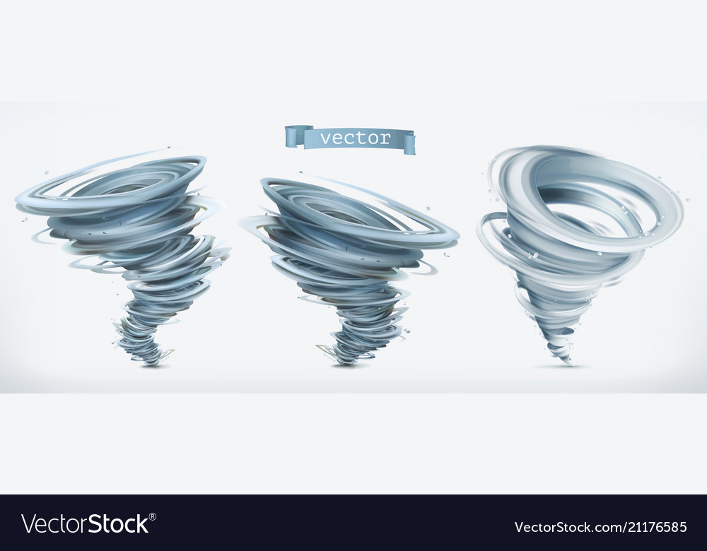 Tornado 3d icon set