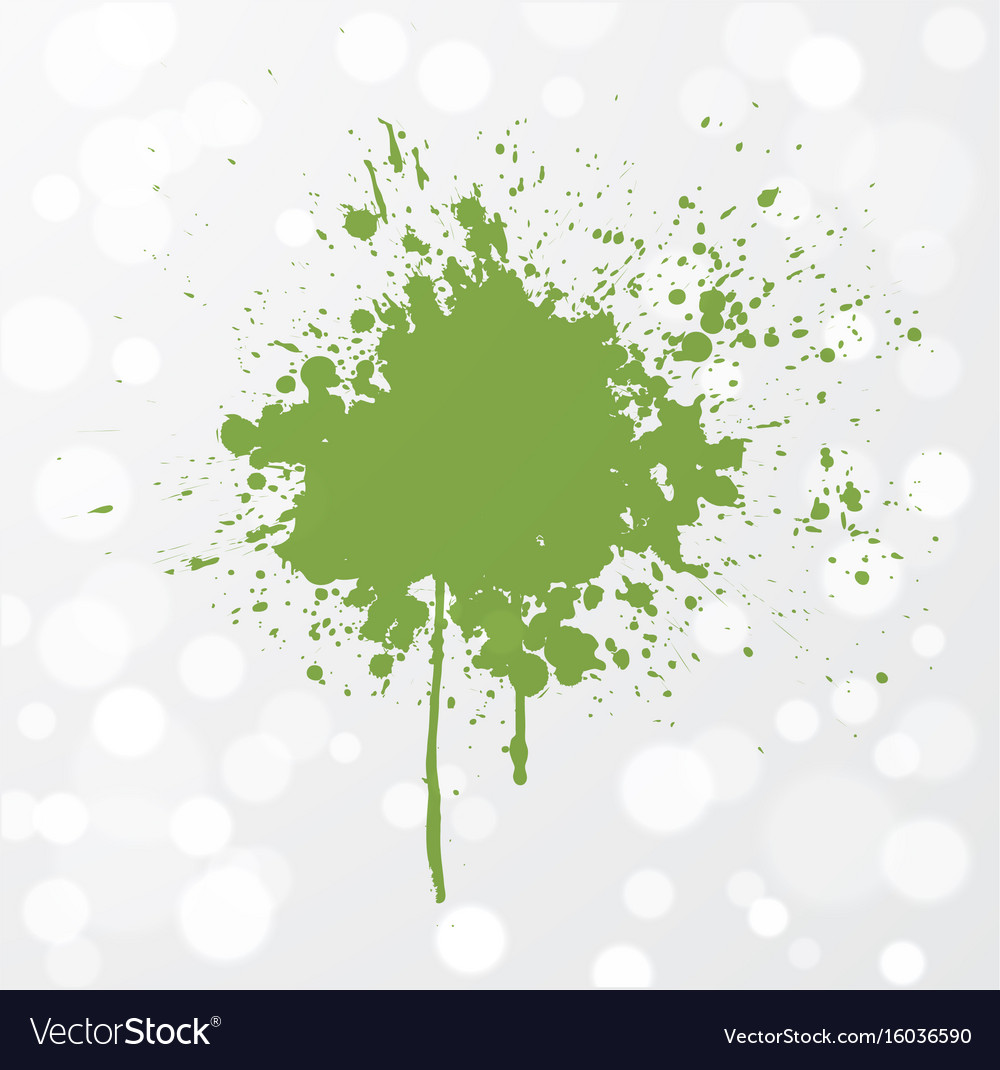 Abstract grunge splash of greenery - color of the