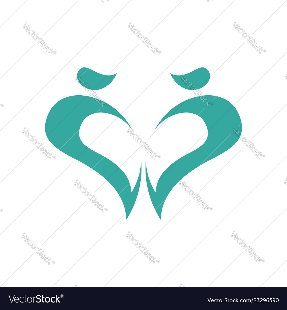 Abstract heart logo design template love and care