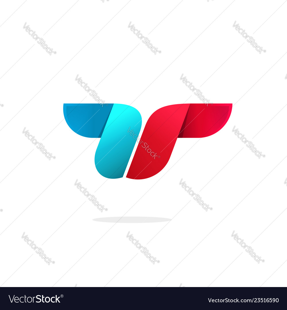 Abstract letter t logo template symbol