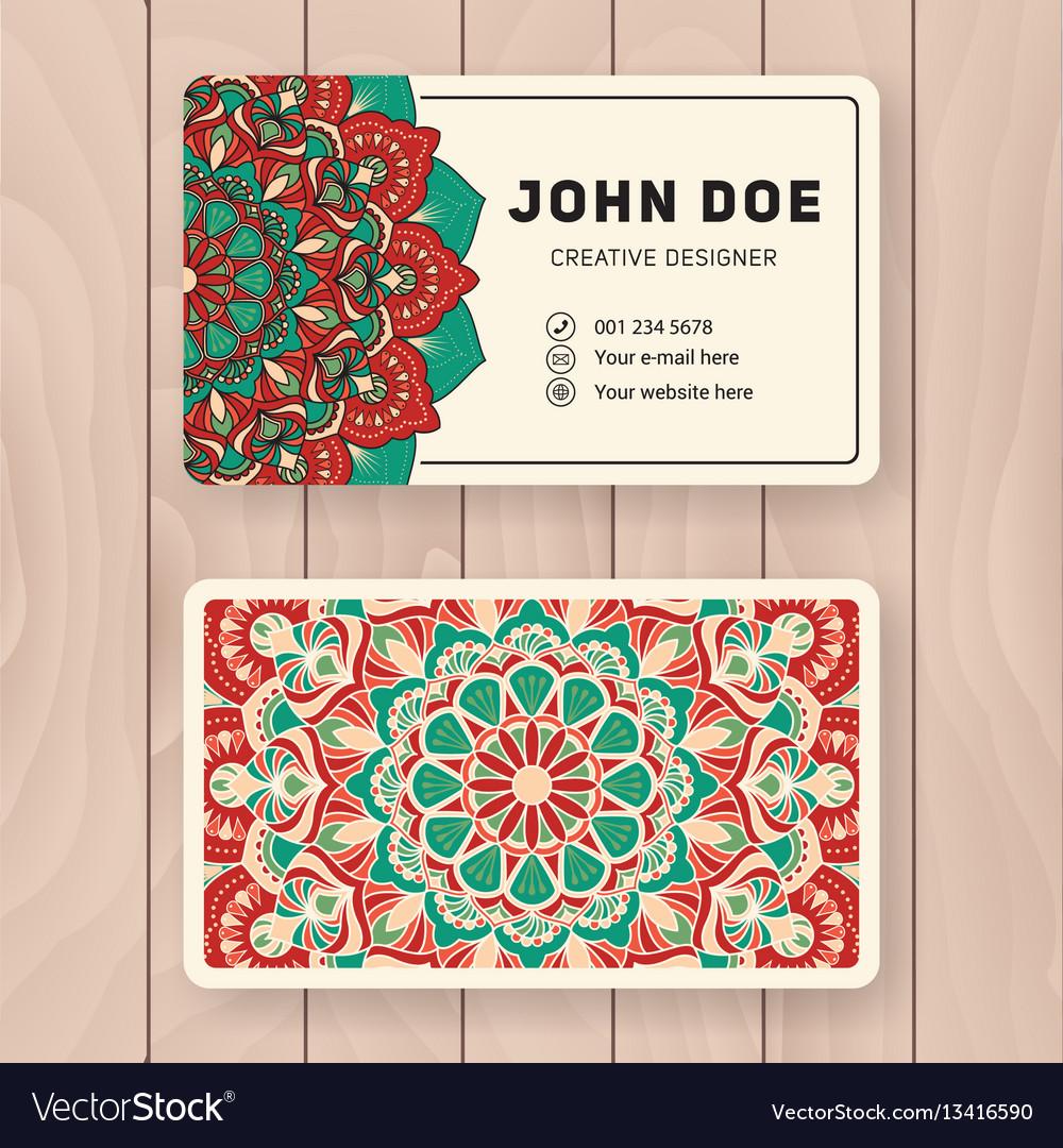 Creative useful business name card design vector image