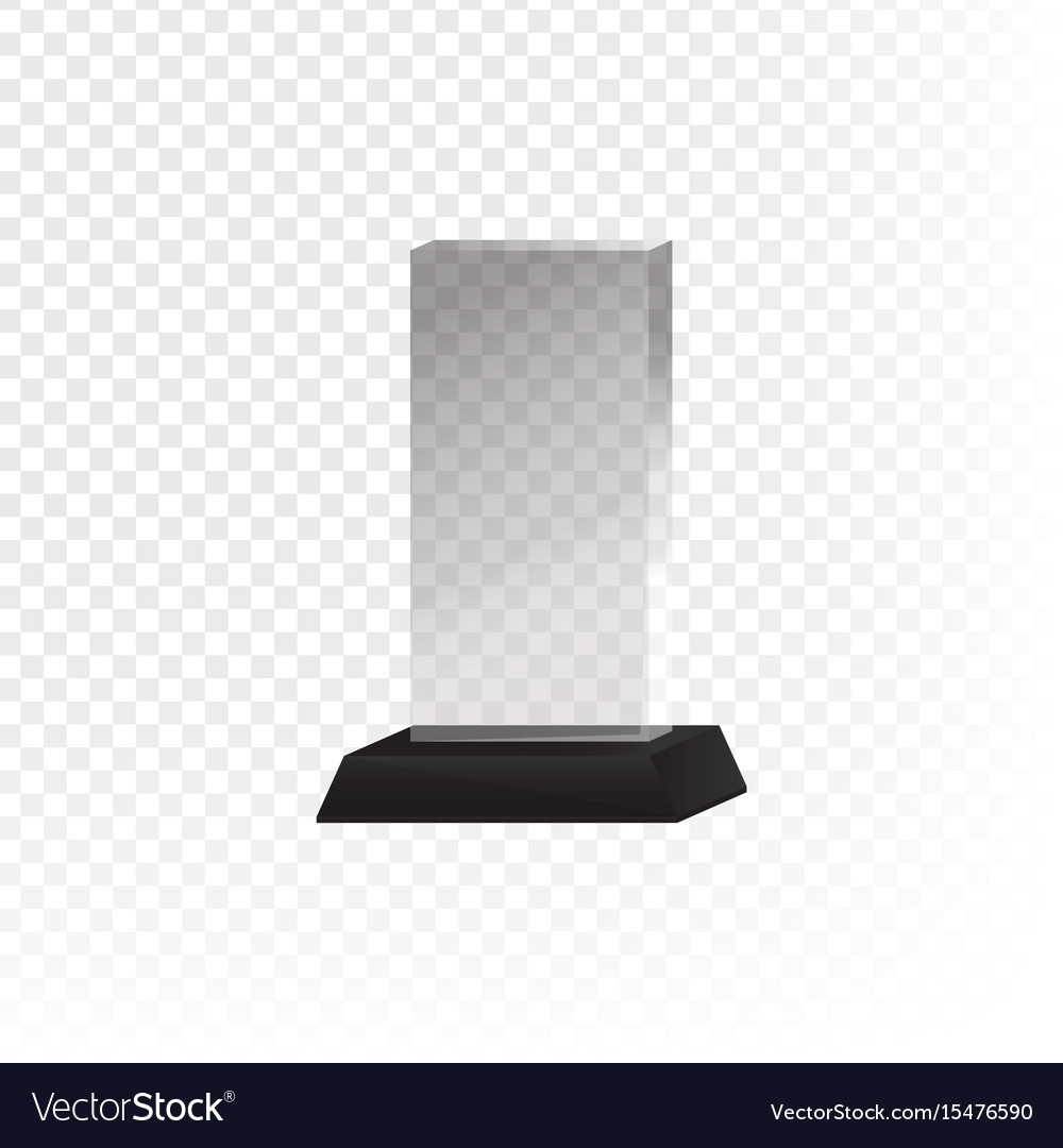 Glass trophy and prize vector image