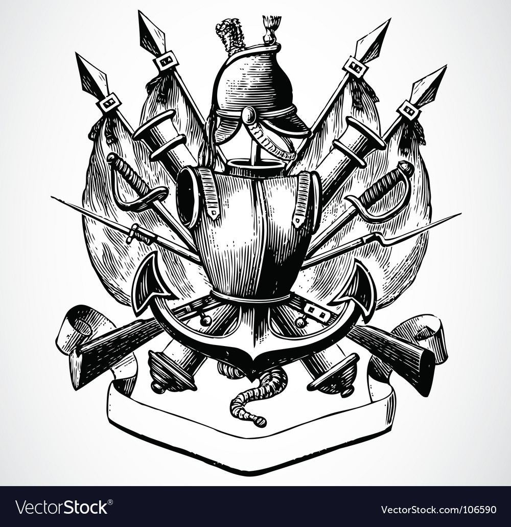 Knight shield of arms