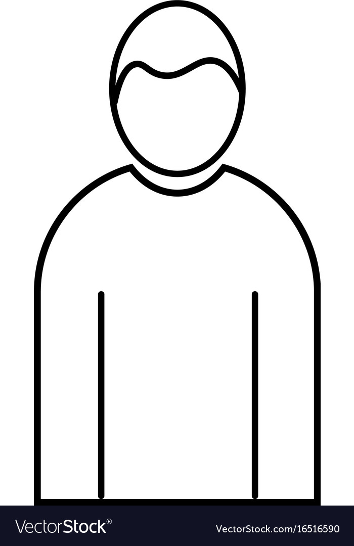 Male human linear icon vector image