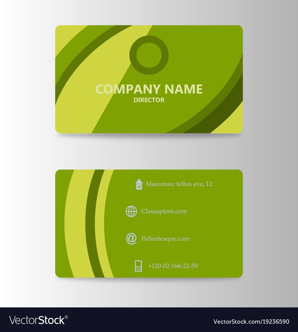 Modern business card print template trending vector image on VectorStock