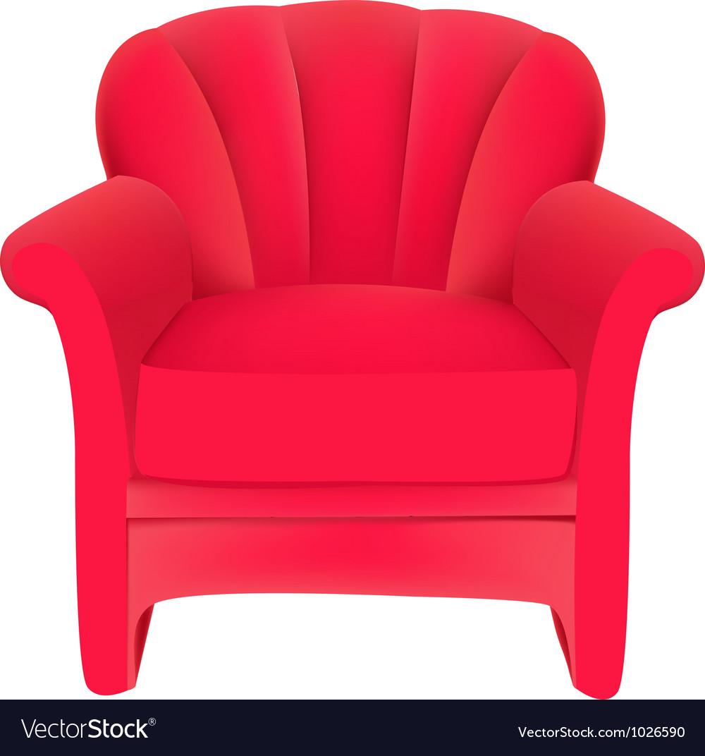 Red velvet chair vector image