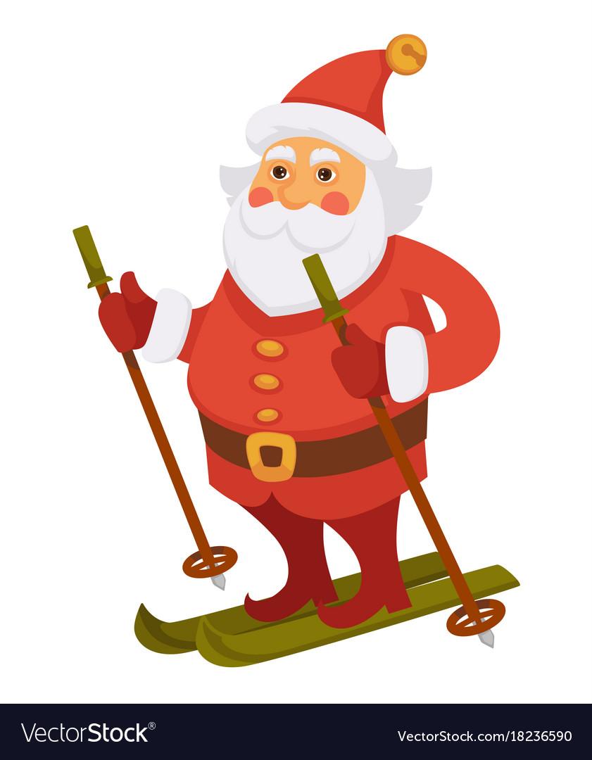 Santa winter vacations skiing ski daily christmas
