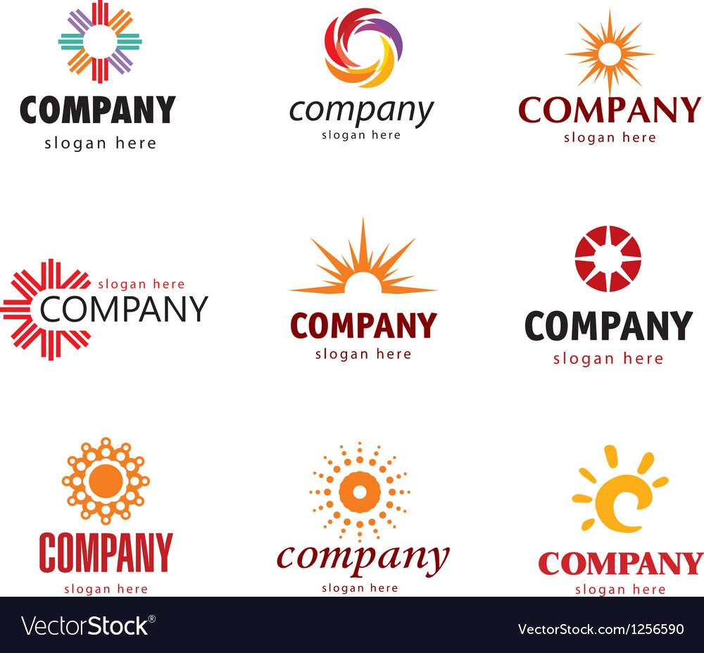 Solar logo vector image