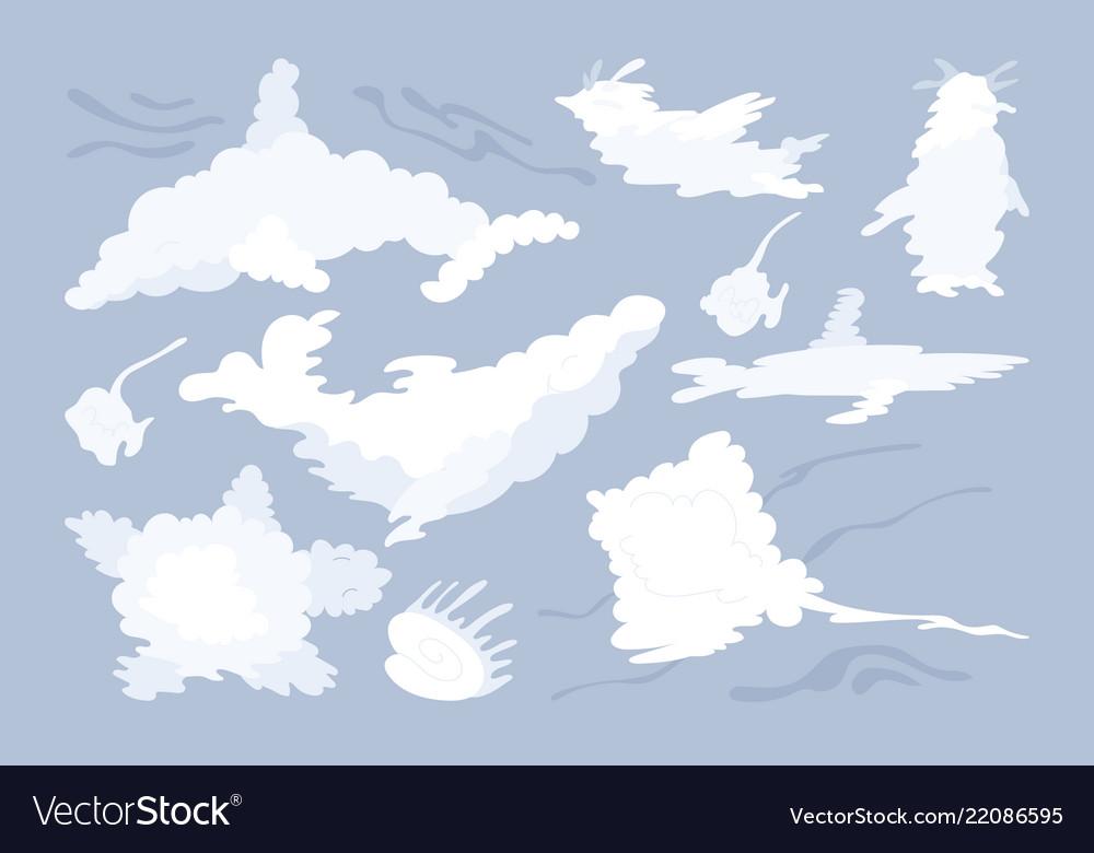 Animal shaped cloud set