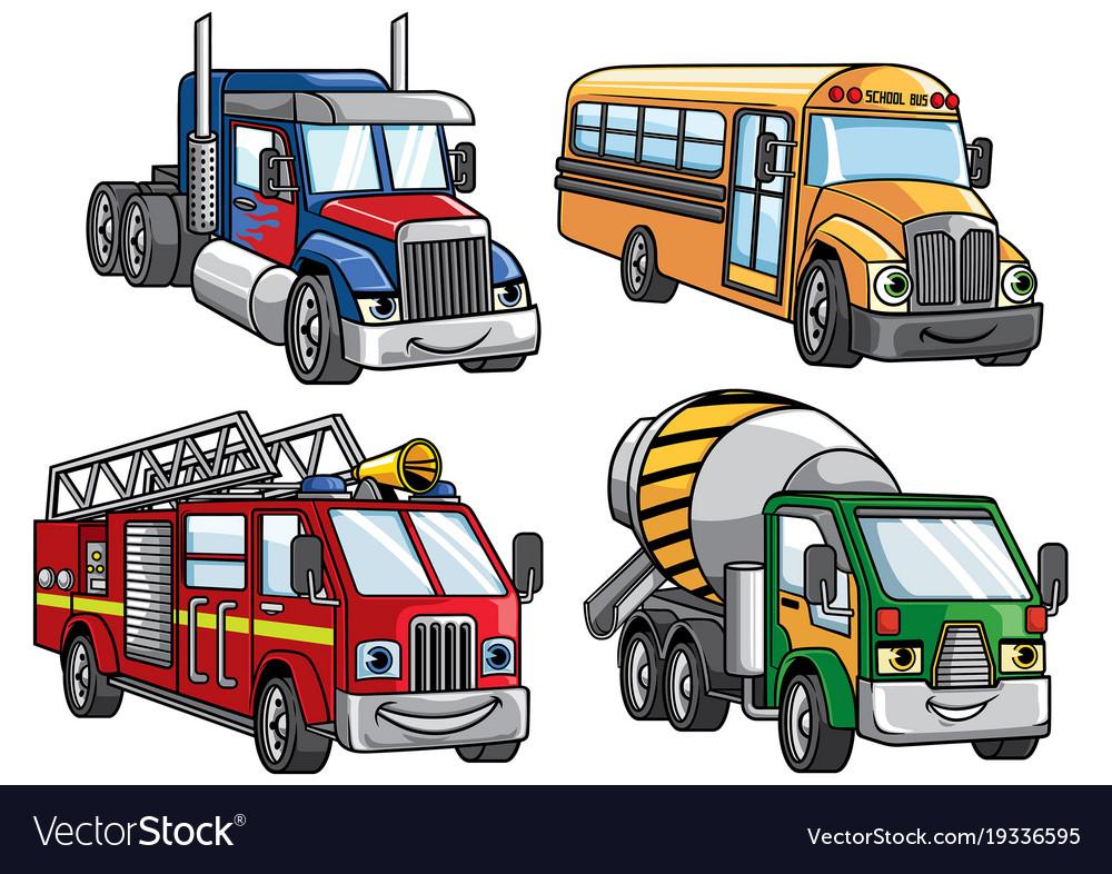 Cartoon truck set