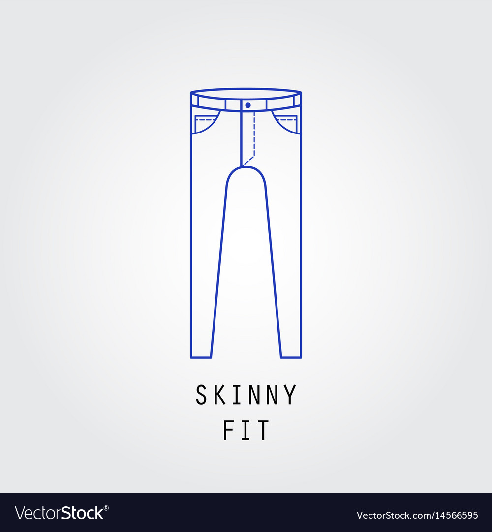 Denim fit icon vector image