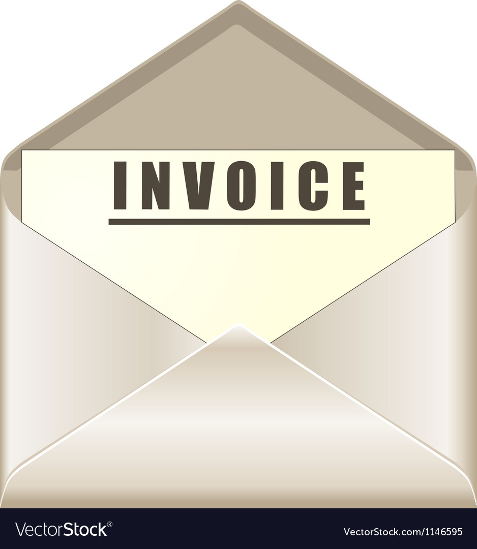 envelope with invoice document royalty free vector image