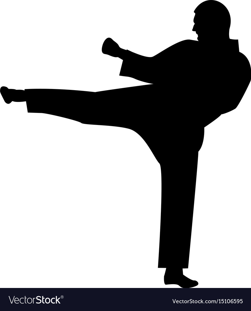 Karate Man The Black Color Icon Royalty Free Vector Image