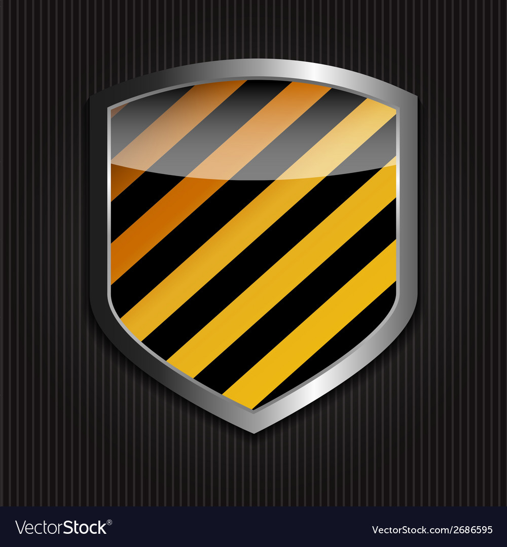 Protect Shield on Black Background vector image